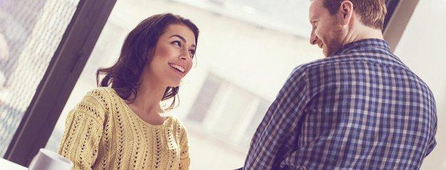 Flirten vor dem partner