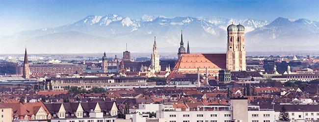 Singles in München: Panorama der Münchner Innenstadt