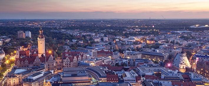 Leipzig Panorama als Symbol für Leipzig Singles online kennenlernen